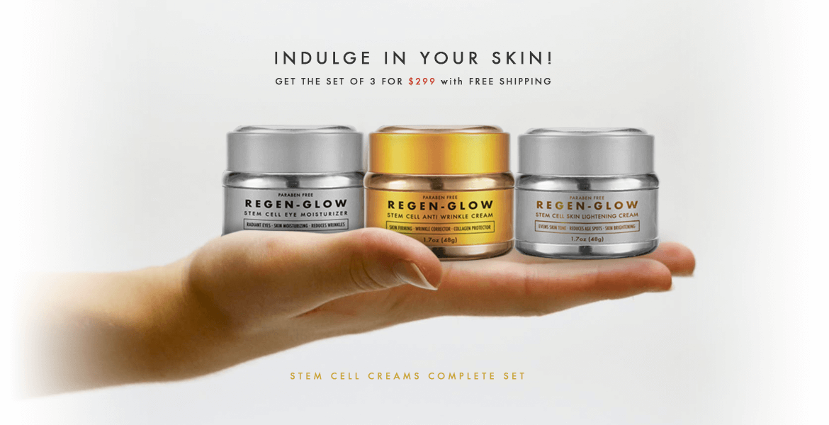 RegenGlow Plant Stem Cell Creams - Set of 3